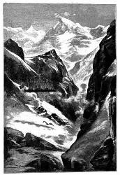 Ueberall weißglänzende Gipfel. (S. 107.)