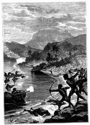 Angriff der Eingebornen von Tonga-Tabu.