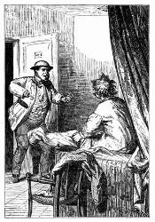 Maston dringt in's Schlafzimmer. (S. 142.)