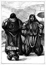 Eskimo-Familie. [Facsimile. Alter Kupferstich.]