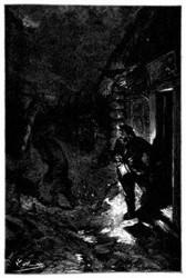 Nach wenigen Schritten war er in der Finsternis der Nacht verschwunden. (S. 76.)