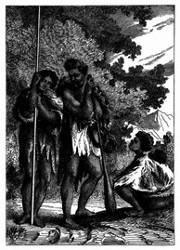Eine neuseeländische Familie. [Facsimile. Alter Kupferstich.]