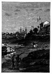 Ein Mann stürmte auf Manao zu. (S. 327.)