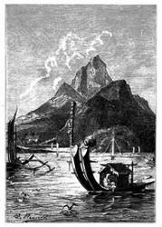 Ansicht von Tahiti.