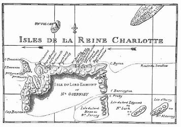 Inseln der Königin Charlotte. [Facsimile. Alter Kupferstich.] (S. 69)
