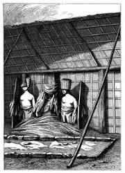Inneres eines Moraï von Otooi (S. 132.)