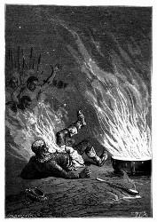 Der König hatte Feuer gefangen wie eine Petroleumkanne. (S. 356.)