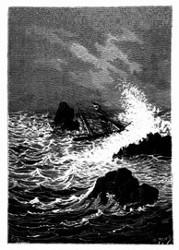 In dieser engen Straße wüthete das Meer noch gewaltiger. (S. 149.)