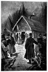 Der Landauer langte vor dem Kabak an (S. 93.)