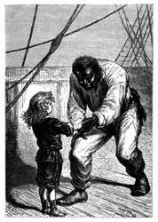Der kleine Jack schüttelte die Hand seines Freundes Herkules. (S. 103.)