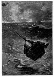 Frycollin im Korbe aufgehängt. (S. 118).