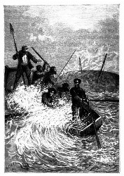 Das Boot vermochte nicht so schnell auszuweichen. (S. 86.)