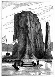 Der Berg Kesa. [Facsimile. Alter Kupferstich.] (S. 169.)