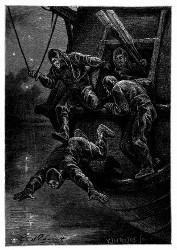 Soun wurde in das Meer hinabgelassen. (S. 173.)
