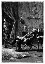 Der Richter, geistig und körperlich erschöpft. (S. 309.)