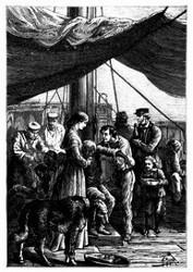Inzwischen pflegte man die armen Schiffbrüchigen. (S. 34.)
