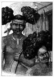 Eingeborne von Neu-Guinea. [Facsimile. Alter Kupferstich.]