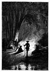 Für die Nacht wurde die Lagerstätte hergerichtet. (S. 207.)