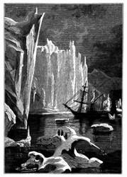 Ihre lothrechten Mauern übertrafen unsere Masten bei weitem an Höhe. (S. 434.)