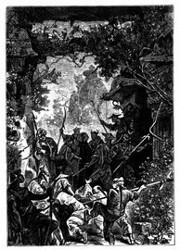 Kin-Fo und Soun wurden in einen geräumigen Vorraum geführt. (S. 212.)
