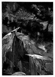 Der Orkan trug den »Albatros« über die Packeismassen. (S. 172.)