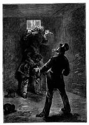 Phil Evans führte einen heftigen Schlag gegen die Scheibe. (S. 55.)