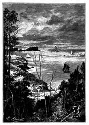 Einfahrt in die Bai von Sydney.