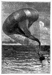 Der Ballon wurde schlaffer und schlaffer. (S. 156.)