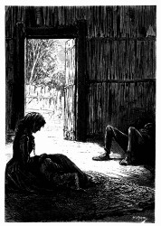 Mrs. Weldon saß halbschlummernd neben dem kleinen Jack. (S. 399.)