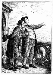 Die beiden Freunde gingen um den Altan. (S. 75.)