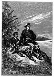 Beide saßen an der Südgrenze der Fazenda. (S. 44.)