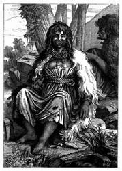 Frauentypus aus dem Hafen der Franzosen. [Facsimile. Alter Kupferstich.] (S. 314.)