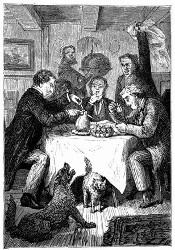 Wollte man eine Birne vertilgen, so waren vier Personen dazu nöthig. (S. 58.)