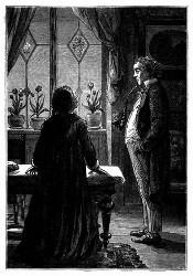 Die würdige Frau Brigitte hatte ihren zweiten Mann. (S. 15.)