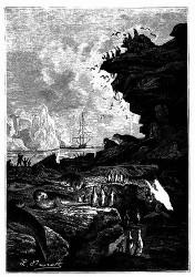 Die »Mercury« vor Anker in der Bai Française. (S. 310.)