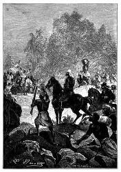 Die Karawane traf den Boten des Königs von Yourriba. (S. 114.)
