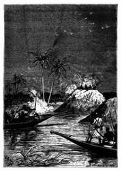 Alle gaben auf eines der Boote Feuer. (S. 298.)