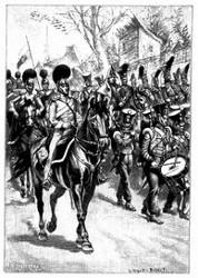 Die Truppenabtheilung Whiterall's, das Lager bei St. Charles beziehend. (S. 295.)