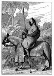 Ulan des Sultans von Beghermi. [Facsimile. Alter Kupferstich.]