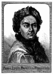 Porträt von Maupertuis. [Facsimile. Alter Kupferstich.] (S. 12.)