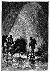 Dick Sand und seine Genossen schlüpften hinein. (S. 271.)
