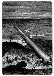Maston's Ideal einer Kanone. (S. 54.)