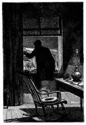 Der Präsident Barbicane am Fenster. (S 116.)