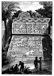 Ansicht der Pyramide von Xochicaleo. [Facsimile. Alter Kupferstich.]