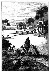 Ansicht der Ufer des Congo. [Facsimile. Alter Kupferstich.]