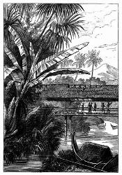 Ansicht der Insel Bourou. [Facsimile. Alter Kupferstich.]