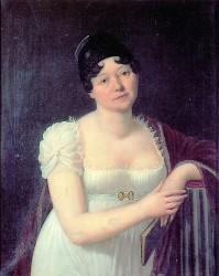 Caroline von Wolzogen (Gemälde von Carl von Ambère, Öl auf Leinwand, 1808)